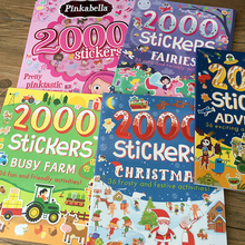 2000 stickers English activity book for kids and children/ 27*24cm animal/princess/farm/ stickers for boys and girls gifts toy my perfect princess sticker activity book