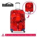 Dispalang romantic rose viagem bagagem elástica protetora capas para 18-30 polegada caso acessórios de viagem do trole mala cobre