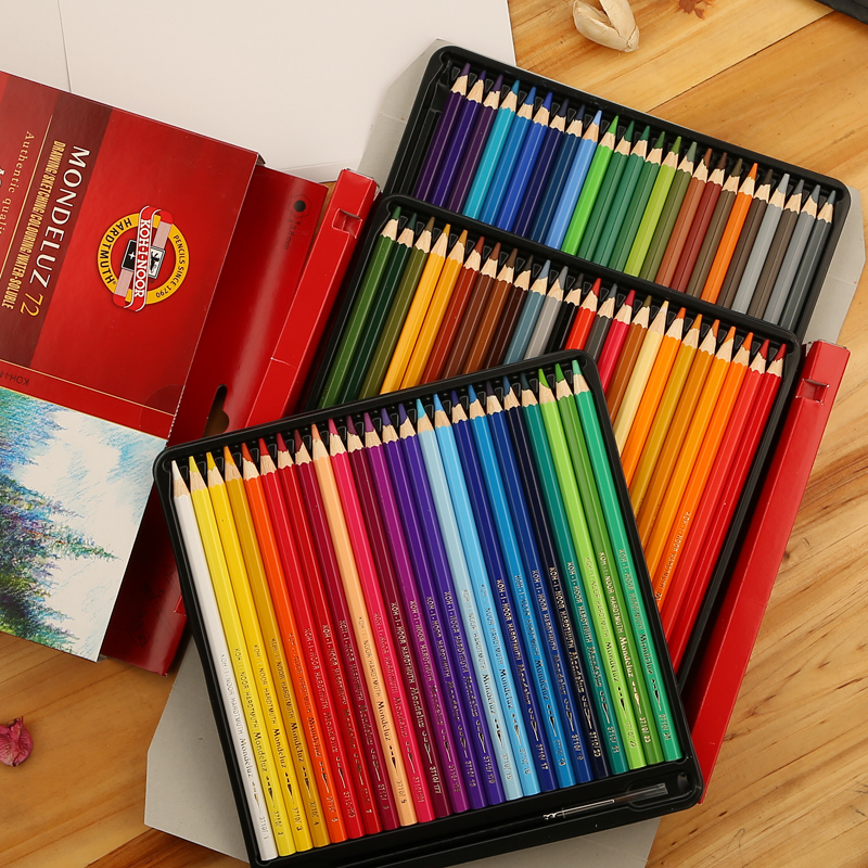 Koh-i-noor Mondeluz Aquarell Drawing Set. 72 Colored Pencils Water Color Pencils image