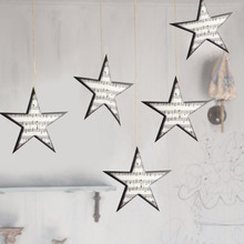 Twinkle Star Garland Music-themed Party Decorations Music Embellishments Ornaments Home Nursery Decor(12pcs)