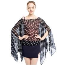 Lady cover-ups fashion bikini cover up summer beach swimwear dots scarf pareo sarong chiffon polyester shawls ups