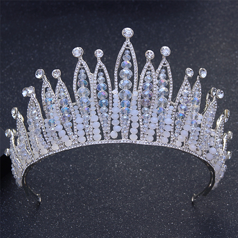 Sparkly Clear Crystal Rhinestones Women Birthday Crowns Tiaras Wedding Bridal Pageant Princess Crown Bride Hairband Hair Jewelry 03 red gold bride wedding hair tiaras ancient chinese empress hat bride hair piece