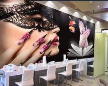 beibehang Custom mural 3d photo wallpaper beauty salon manicure tooling background wall decorative painting murals