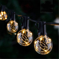 CF Grow 4.2M waterproof string light with 25 G40 copper wire LED bulb fairy tale decorative lights for holiday garden party