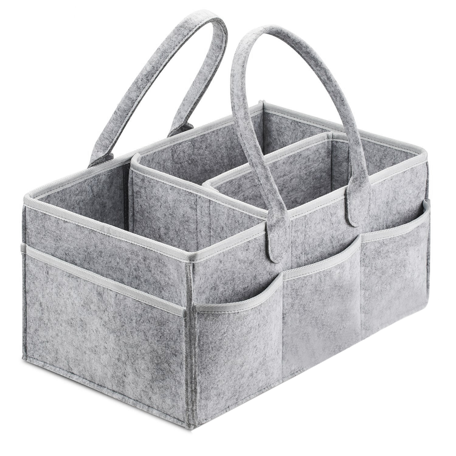 Baby Diaper Caddy Organizer Portable Holder Bag For Changing Table And Car, Nursery Essentials Storage Bins