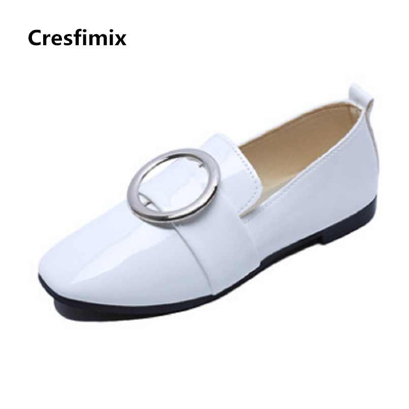 Cresfimix sapatos femininos women cute spring and summer solid flat shoes lady casual slip on flats female comfortable shoes cresfimix women cute spring and summer slip on flats sapatos femininas female black soft pu leather comfortable flat shoes
