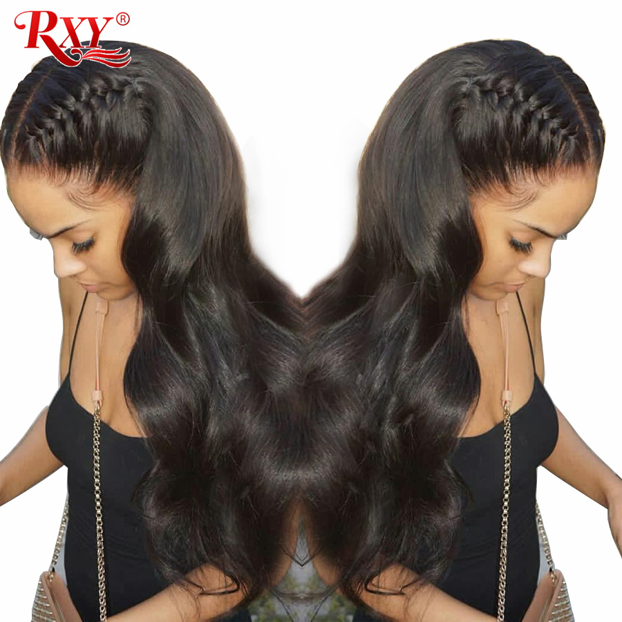 RXY Glueless Lace Front Human Hair Wigs Body Wave Wigs Brazilian Body Wave Lace Wig Humain Hair For Black Women Natural Hairline