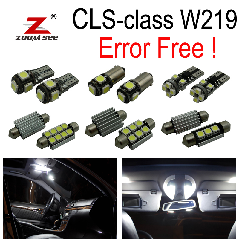 23pc X canbus Error free LED Interior Light Kit For Mercedes For Mercedes-Benz CLS W219  CLS500 CLS550 CLS55 AMG CLS63 AMG 06-10 27pcs led interior dome lamp full kit parking city bulb for mercedes benz cls w219 c219 cls280 cls300 cls350 cls550 cls55amg