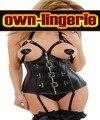 Кожаный корсет открыть бюст корсет черная кнопка крючки бинты ремень женщина кожаное бюстье w3124