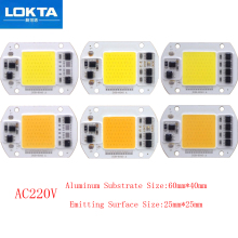 30PCS/LOT LED Lamp Chip COB 30W 40W 50W AC220V  Cold/Warm White Smart IC light beads For DIY Spotlight Floodlight