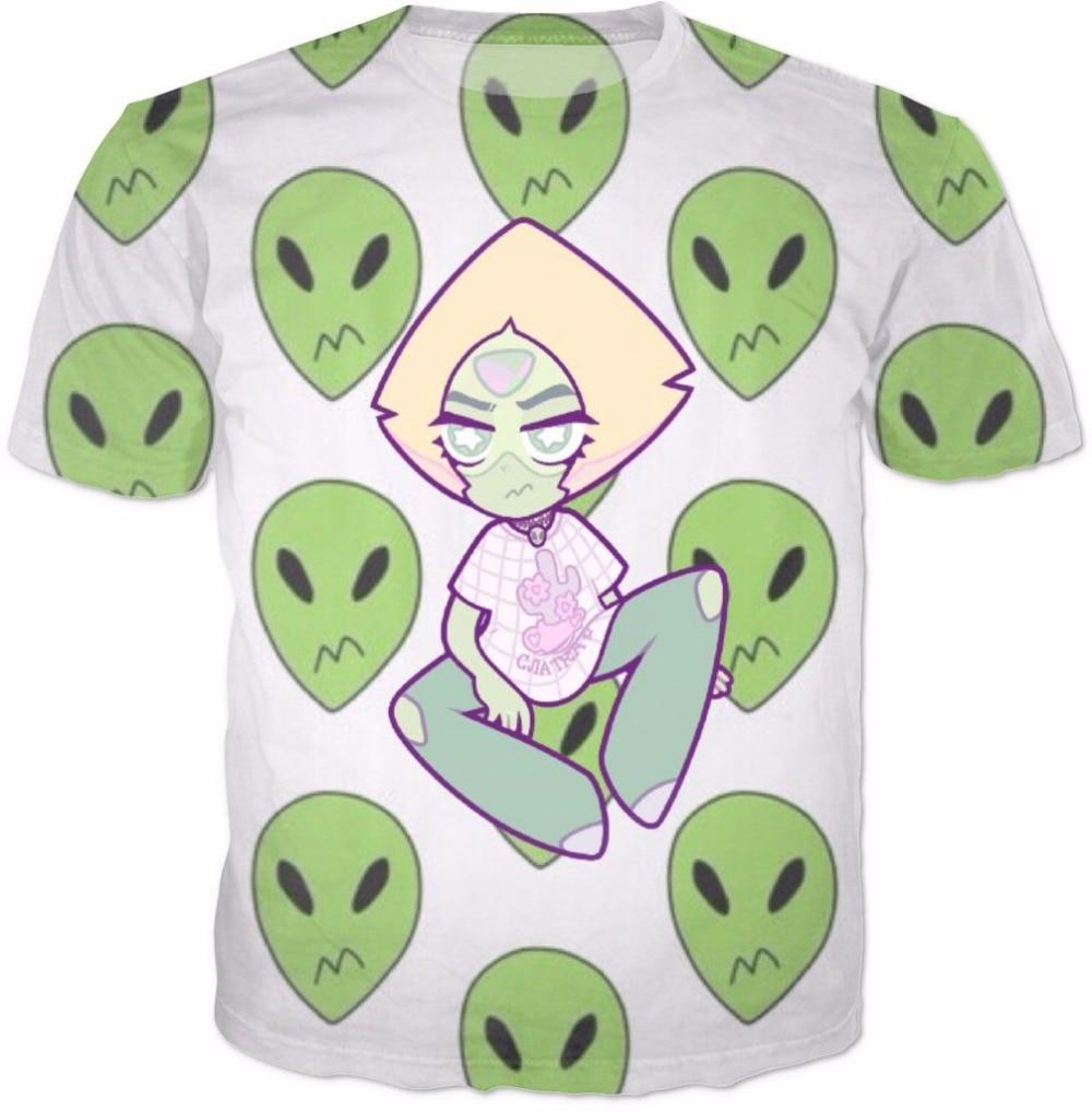 Peridot Alien Camiseta Steven Universe Fandom Tops Camiseta Mujer Hombre Camisetas Moda Ropa Casual Harajuku Camiseta Trajes R2845