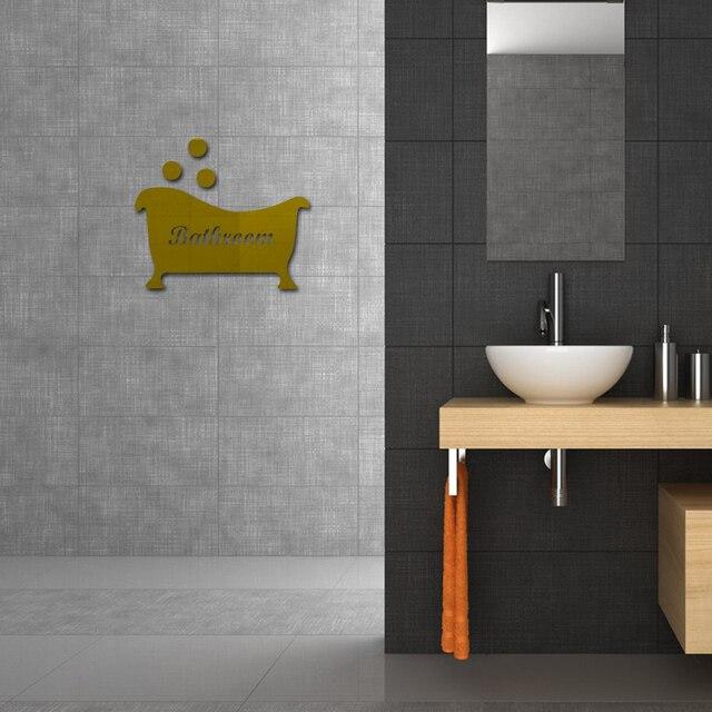 2017 Hot Wall Sticker Acrylic Stickers Decor Bathroom Decoration Diy Mirror Modern