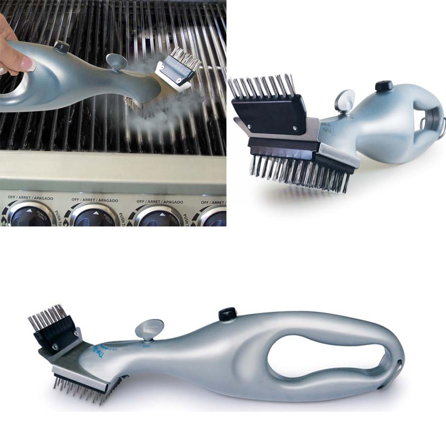 Barbecue Stainless Steel BBQ Cleaning Brush Churrasco Outdoor Grill Cleaner with Power of Steam bbq accessories Cooking Tools in Cleaning Brushes from Home Garden