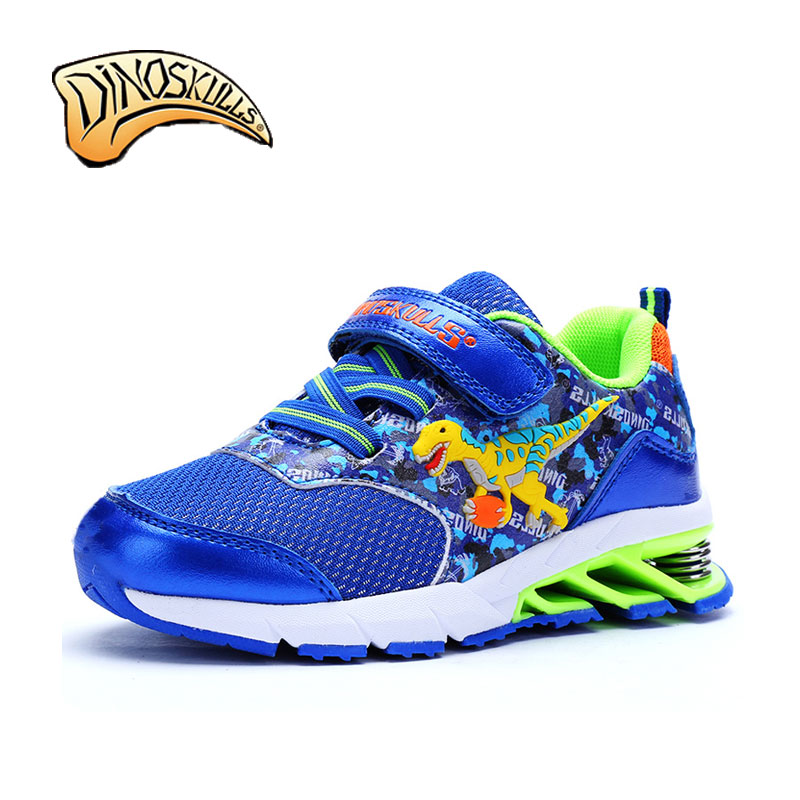 Dinoskulls Spring Damping Outsole Slip Patchwork Breathable Kids Sneakers Children Sports Shoes Boys Running 3D Dinosaur Shoes  children s shoes girls boys casual sports shoes anti slip breathable kids sneakers spring fashion baby tide children shoes