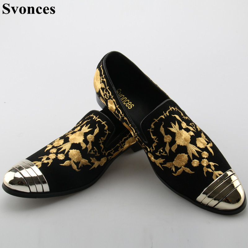 Men's Shoes Beertola Real Leather Mens Casual Shoes Embroiderd Gorgeous Fireworks Crystal Metal Decoration Slip On Loafers Handmade Shoes High Quality Goods