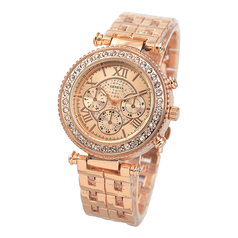 CONTENA Watch Luxury Rhinestone Rose Gold Watch Women Watches Full Steel Women's Watches Clock saat montre femme reloj mujer fashion guou women s watches ladies watch luxury bracelet watches for women rose gold rhinestone clocks women reloj mujer saat