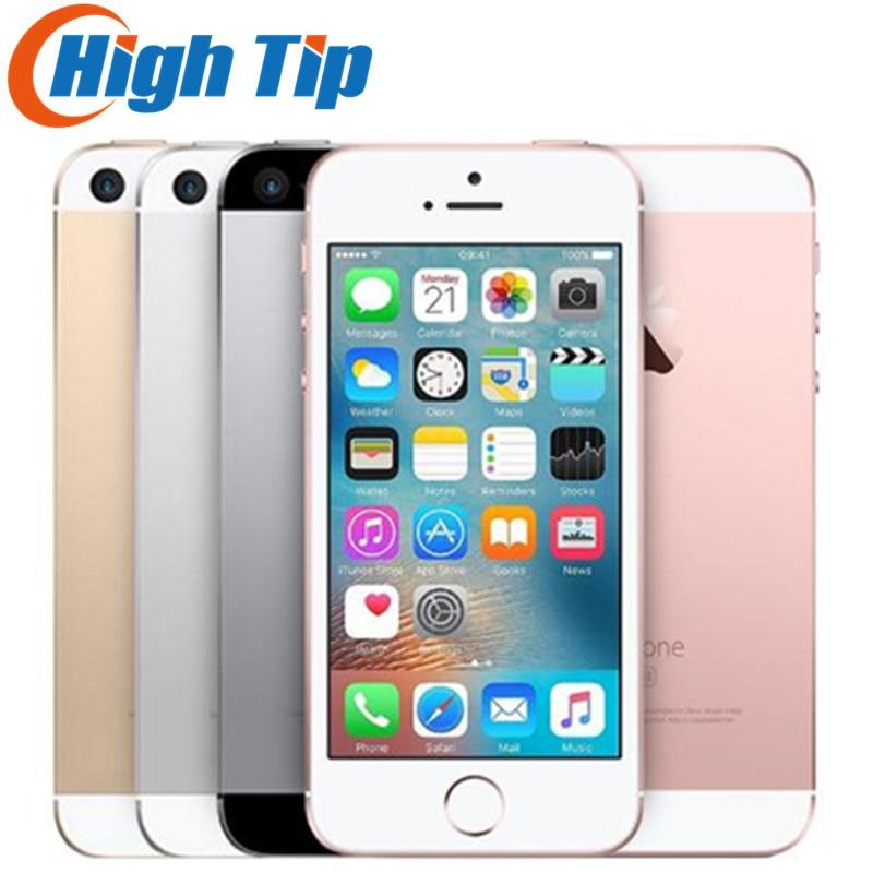 Débloqué Original Apple iPhone SE 4g LTE Mobile Téléphone iOS 4.0 12.0MP Tactile ID Puce Dual Core A9 2g RAM 16/64 gb ROM Smartphone