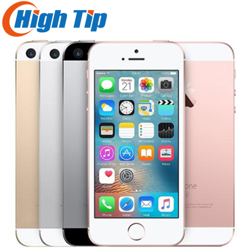 Original Unlocked Apple iPhone SE 4G LTE Mobile Phone iOS 4.0&#8243;12.0MP Touch ID Chip Dual Core <font><b>A9</b></font> 2G RAM 16/64GB ROM Smartphone
