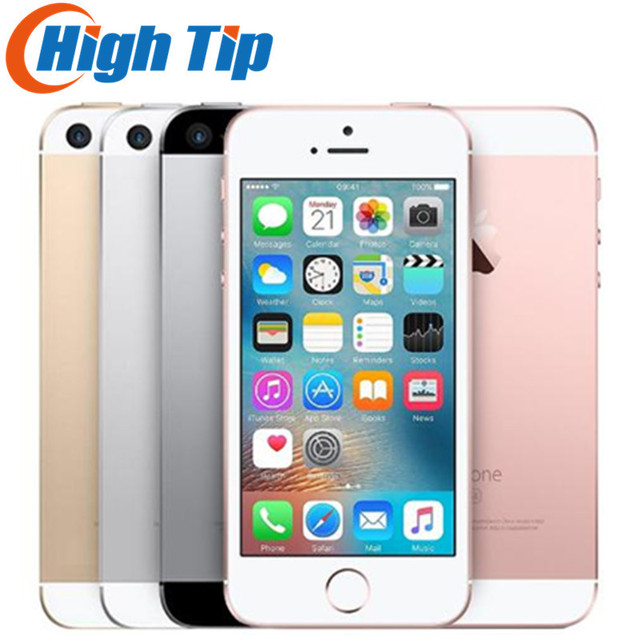 """Original Unlocked Apple iPhone SE 4G LTE Mobile Phone iOS 4.0""""12.0MP Touch ID Chip Dual Core A9  2G RAM 16/64GB ROM  Smartphone"""