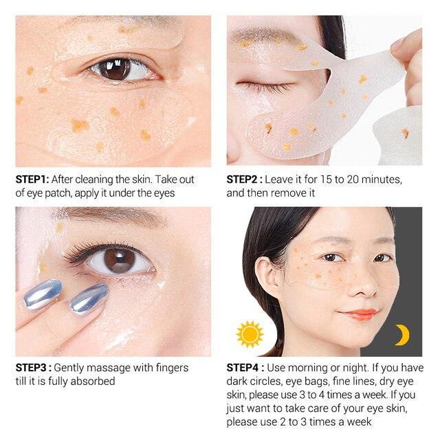 BREYLEE Gold Osmanthus Fragrans Eye Mask Collagen Gel Eye Patch Face Skin Care Remove Dark Circles