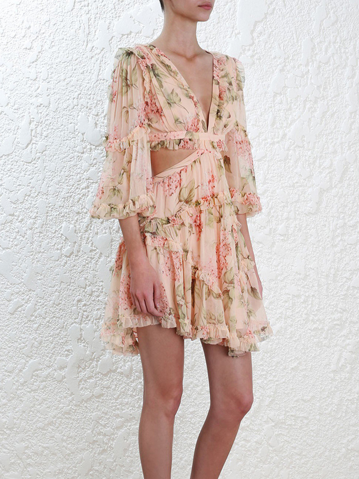 19 New summer beach mini dress woman spaghetti strap cross backless sexy deep v print bodycon vestidos fashion short dress 7