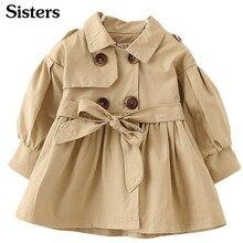 Sisters/осенне-зимняя детская одежда; ветровка для маленьких девочек; модный однотонный топ для детей 1-6 лет; K1