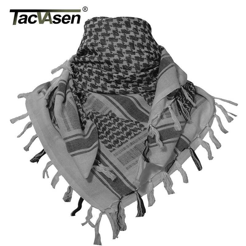 TACVASEN Männer Military Schal Taktische Wüste Arabischen Keffiyeh Schal Camouflage Kopf Schal Frauen Arabisch Baumwolle Paintball Gesicht Maske