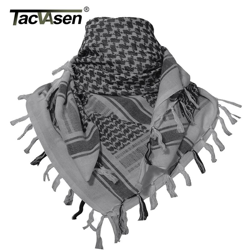 TACVASEN Men Military Scarf Tactical Desert Arab Keffiyeh Scarf Camouflage Head Scarf Women Arabic Cotton Paintball Face Mask(China)