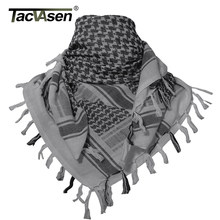 TACVASEN Men Military Scarf Tactical Desert Arab Keffiyeh Scarf Camouflage Head Scarf Women Arabic Cotton Paintball Face Mask(China)
