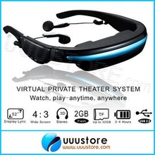 VG280 Glasses HD 52 inch Portable Eyewear Wide Screen video Glasses Support video Music Picture e-book Built in 4GB