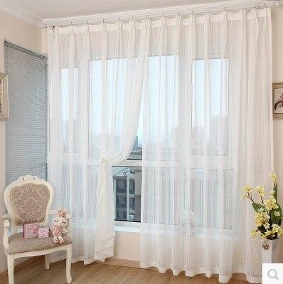 Jacquard franja blanca de diseño decoración personalizar tulle cortinas transparentes cortinas párr sala para sala de.jpg