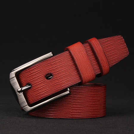 2015 Brand cinto masculino Cowhide + High quality PU leather belt men fashion Metal pin buckle belts for men W302