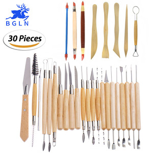 Image 1 - 30Pcs/set Clay Sculpting Tools Pottery Carving Tool Set   Includes Clay Color Shapers, Modeling Tools & Wooden Sculpture Knife