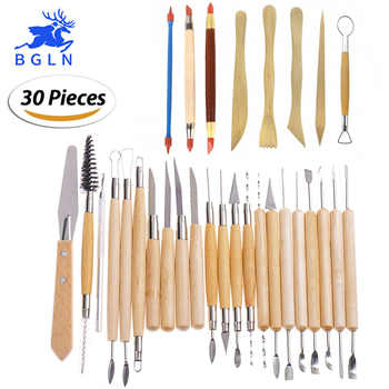 30Pcs/set Clay Sculpting Tools Pottery Carving Tool Set - Includes Clay Color Shapers, Modeling Tools & Wooden Sculpture Knife - DISCOUNT ITEM  35% OFF All Category