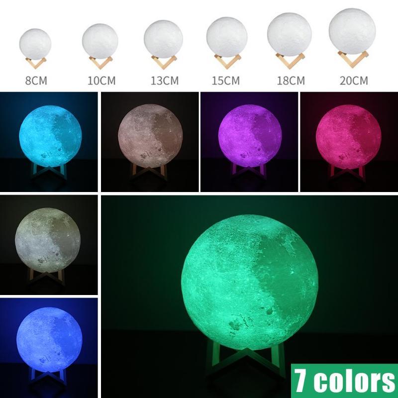 3D Print Moon lamp Moon