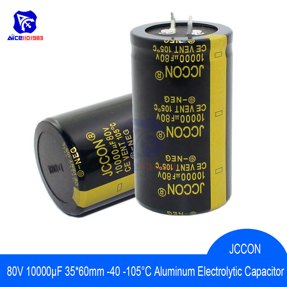 2PCS 100V 10000UF Electrolytic Capacitors 35*70 Audio Power Amplifier