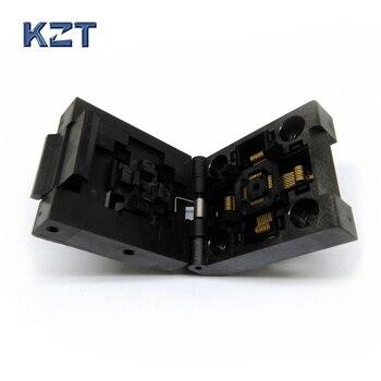 QFP32 TQFP32 LQFP32 de la cubierta de la quema en el zócalo paso 0,5mm IC51-0324-805 zócalo de prueba de circuito integrado adaptador de programador,
