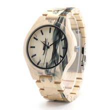 Ink Painting Wood Watches
