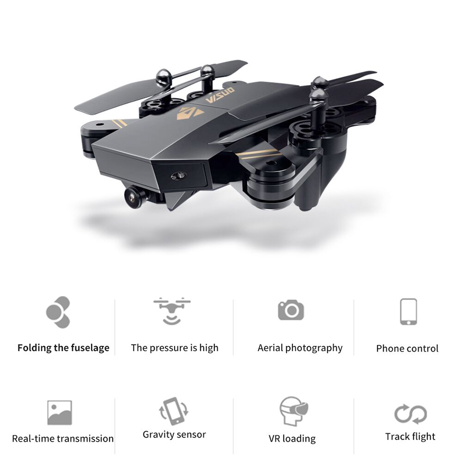 XS809W hovering racing helicopter rc drones with camera hd drone profissional fpv quadcopter aircraft luminous fun toy for boys rc drone hd camera 2 4g 6 axis gyro remote control s9 s8 aircraft helicopter drones white black dron vs xs809w