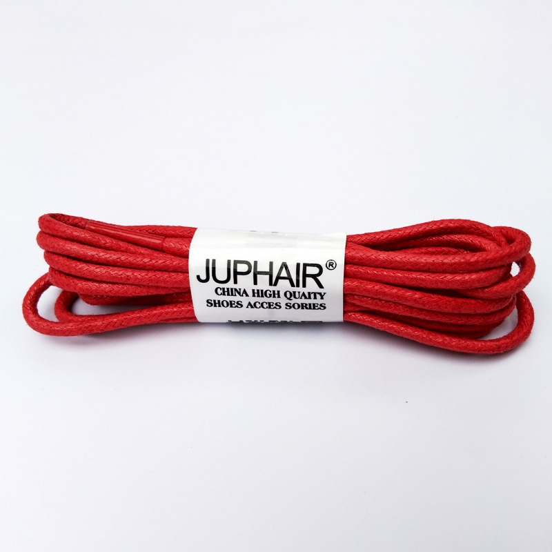 N 1 12 Pair Red High Quality Unise Laces Waxed Round Shoelaces Sneaker Solid Polyester Twisted Boots Shoes Brand Fashion Sports in Shoelaces from Shoes
