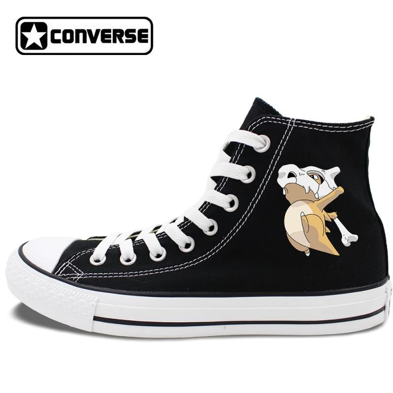 Prix pour Femme Homme Converse All Star Skate Chaussures Blanc Noir 2 Couleurs Pokemon Cubone Anime Toile Sneakers Haute Tops