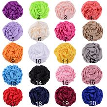 Nishine 50pcs/lot Rolled Roses Flower Hair Accessories for Kids Women DIY Boutique Party Decoration