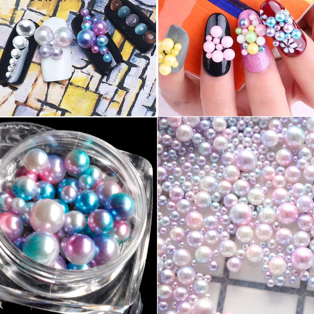 Aliexpress.com : Buy 40pcs/box Nail Art Decoration Mermaid Gradient ...