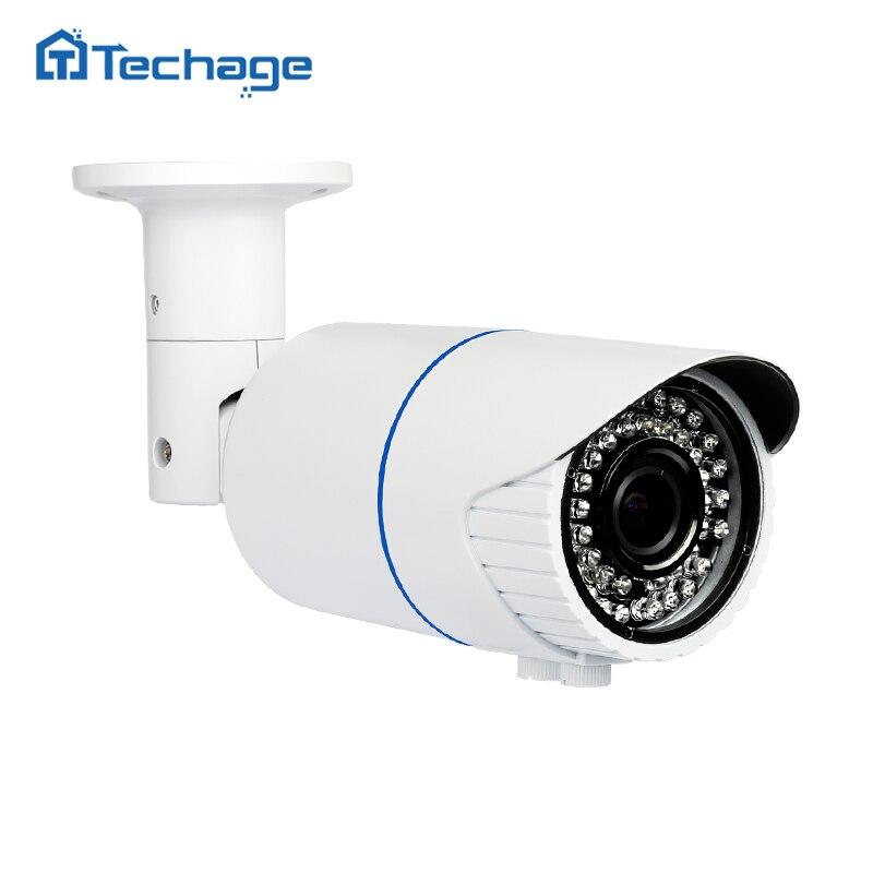 Techage H.265 4.0MP HD de Sécurité POE IP Caméra Intérieure Extérieure IR Onvif P2P 2.8-12mm À Focale Variable Zoom lens CCTV Caméra de Surveillance