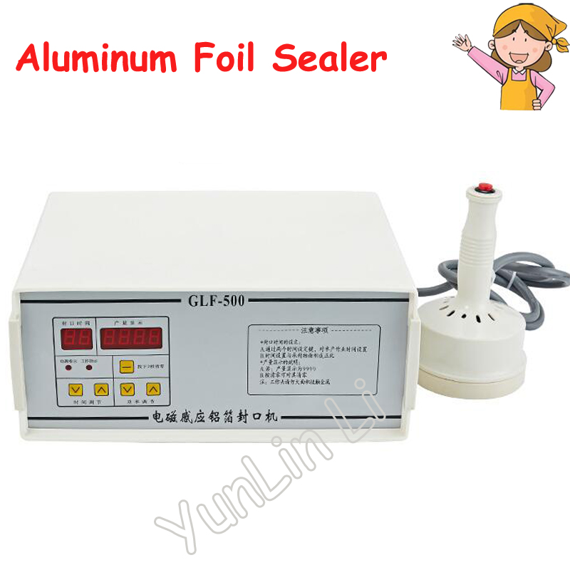 Aluminum Foil Sealing Machine 110V/220V Elecomagnetic Induction Fast Work Continuous Induction Sealer for Bottles GLF-500 free shipping hot sale continuous induction sealer aluminum foil sealing machine
