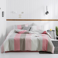 Black white gray plaid Bedding set king queen size Bedingset Waffle 100% cotton Bed set Bedsheet/fitted sheet Duvet cover pillow
