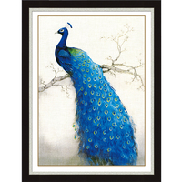 Diy 5d Diamond Painting Peacock Animals Mosaic Pattern Picture Diamond Embroidery Kits Of Rhinestones Crystals