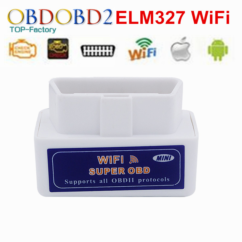 Prix pour ELM327 V1.5 WIFI OBD2 ELM 327 WIFI V1.5 OBDII Lecteur de Code Outil de diagnostic Mini Scanner OBD 2 De Voiture Outil De Diagnostic Pour IOS Android