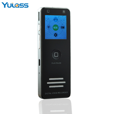 Yulass Digital Voice Recorder 4GB dictaphone professional Black Large Multi Language USB Audio Recorder With MP3/WMA/WAV