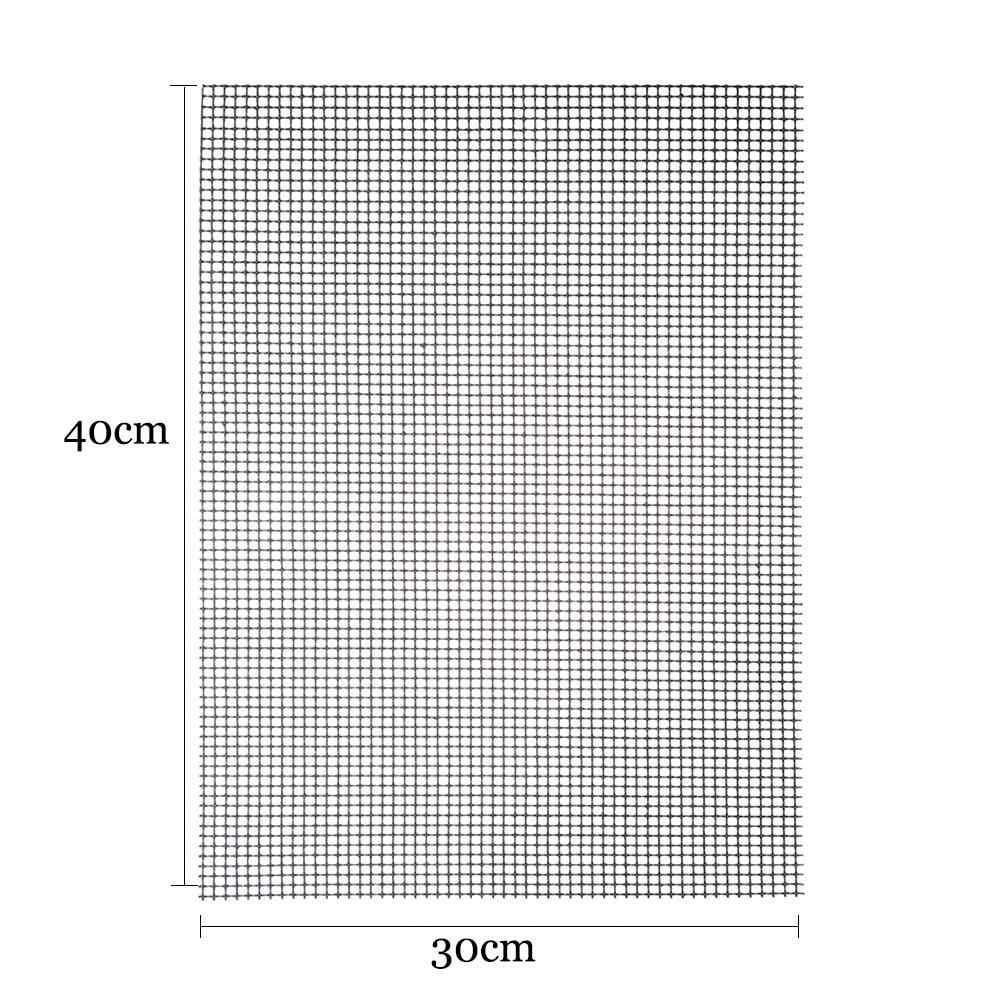 Esteira 30x40x0.2cm da resistência térmica da esteira de grelhar do bbq da forma alta da grade da segurança das esteiras do churrasco da antiaderente para fontes exteriores do piquenique
